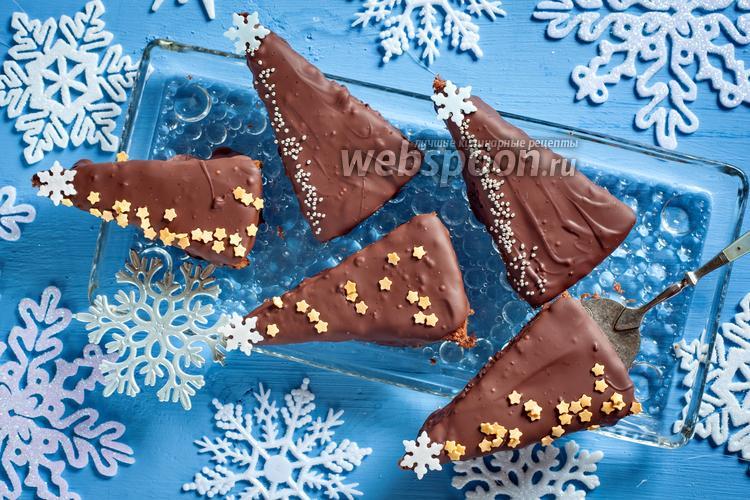 Фото Пирожные «Шоколадные ёлки»