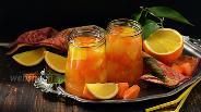 Фото рецепта Компот из тыквы с апельсином на зиму