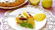 Фото рецепта Шарлотка с черникой и яблоком