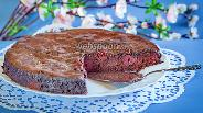 Фото рецепта Шоколадно-вишнёвый пирог