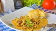 Фото рецепта Куриные желудки в сметанном соусе