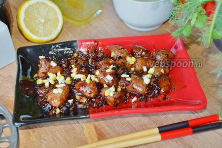 Фото рецепта Куриные сердечки по-китайски