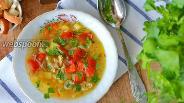 Фото рецепта Суп с куриными желудочками
