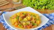 Фото рецепта Куриные желудочки с картошкой