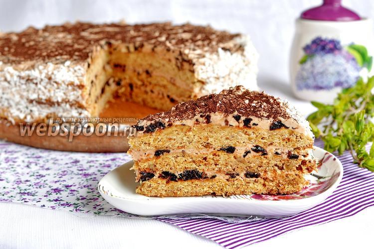 Фото Песочный торт с черносливом