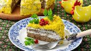 Фото рецепта Печёночный торт в мультиварке