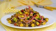 Фото рецепта Салат из гречки с овощами