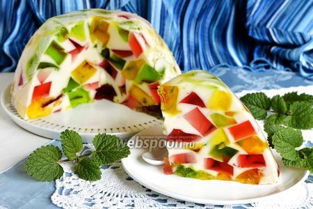 Торт Битое стекло со сметаной видео рецепт