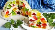 Фото рецепта Торт Битое стекло со сметаной