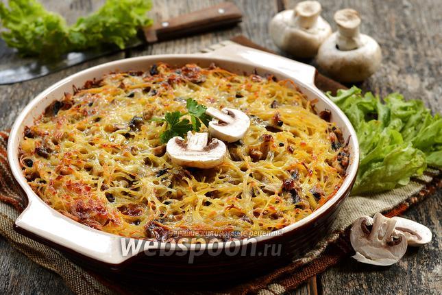 Запеканка из спагетти в духовке рецепт 314