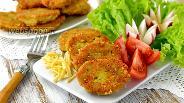 Фото рецепта Драники с ветчиной и сыром