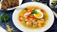 Фото рецепта Суп пшенный с яйцом