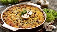 Фото рецепта Запеканка из макарон с грибами