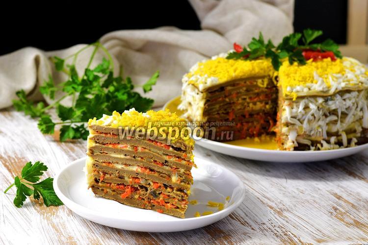 рецепты приготовления говяжьей печени торт