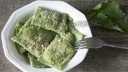 Фото рецепта Равиоли с крапивой и шпинатом