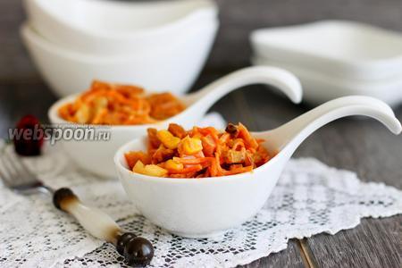 Салат с курицей и морковкой по-корейски