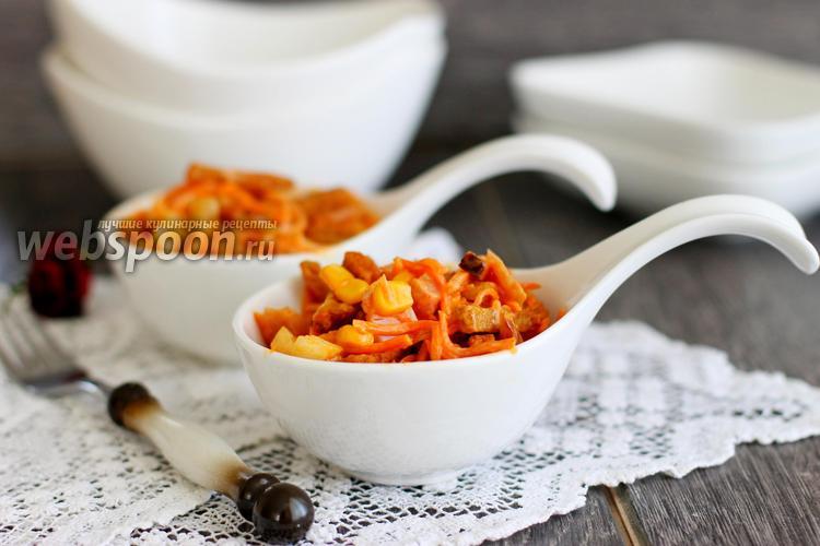 Фото Салат с курицей и морковкой по-корейски