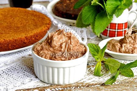 Крем из сгущёнки, сливочного масла и какао