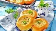 Фото рецепта Ватрушки с копчёным сыром и укропом