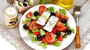 Фото рецепта Греческий салат с пекинской капустой