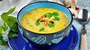 Фото рецепта Сырный суп с шампиньонами