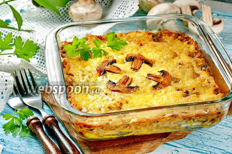 Фото Жульен с грибами и картошкой