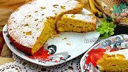 Фото рецепта Итальянский пирог с яблоками и персиками