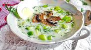 Фото рецепта Окрошка с грибами