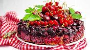 Фото рецепта Французский пирог с вишней