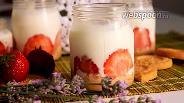 Фото рецепта Клубничный десерт с печеньем