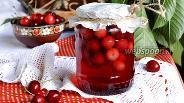 Фото рецепта Компот из черешни с косточками на зиму