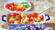 Фото рецепта Салат с помидорами и гренками