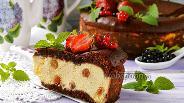 Фото рецепта Наливной пирог с творогом