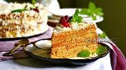 Фото рецепта Арахисовый торт «Коровка»