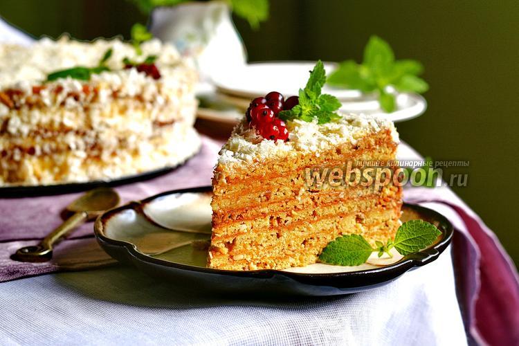 Фото Арахисовый торт «Коровка»