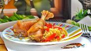 Фото рецепта Домашняя курица с булгуром в мультиварке