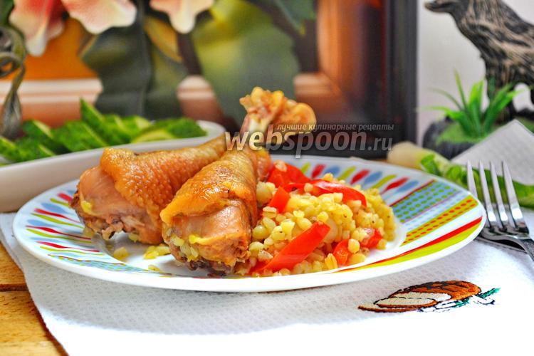 Фото Домашняя курица с булгуром в мультиварке