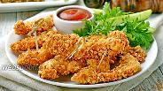 Фото рецепта Куриные наггетсы с сыром