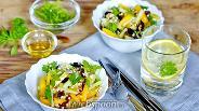 Фото рецепта Салат с зелёной гречкой