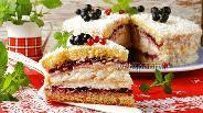 Фото рецепта Торт с безе и бисквитом