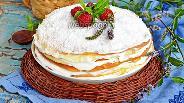 Фото рецепта Блинный торт со сметанным кремом
