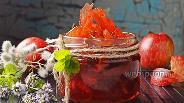 Фото рецепта Прозрачное варенье из яблок дольками (янтарное)