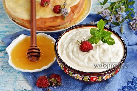Крем из сметаны и мёда