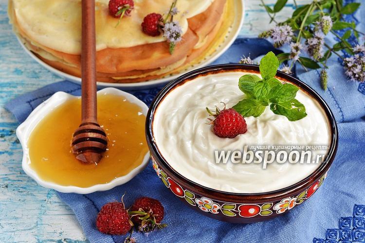 Фото Крем из сметаны и мёда
