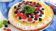 Фото рецепта Бисквит на сковороде