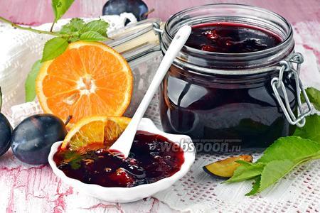 Фото рецепта Варенье из слив с апельсином