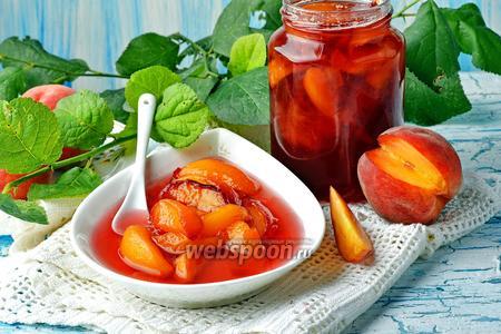Фото рецепта Варенье из персиков пятиминутка