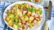 Фото рецепта Тёплый картофельный салат с беконом
