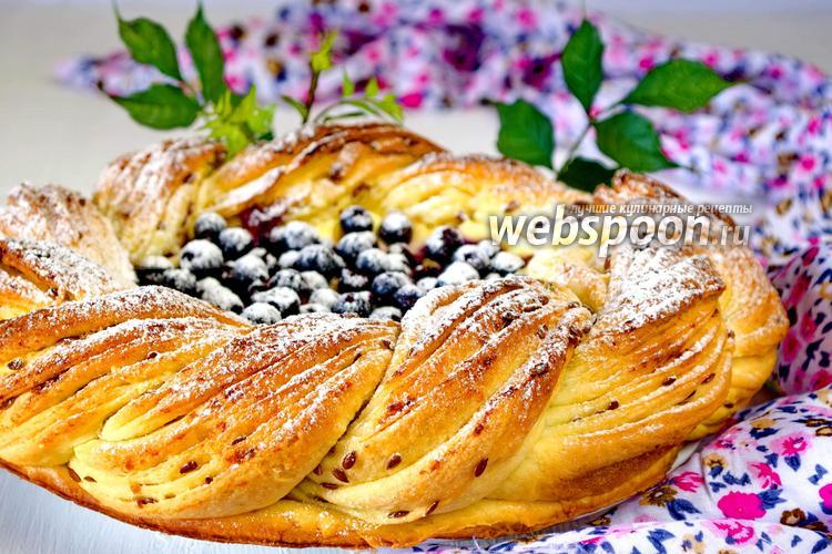 Фото Пирог с черникой и сливочным сыром
