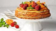 Фото рецепта Блинный торт со сгущёнкой